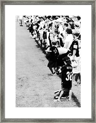 Number 1 Bettis Fan - Black And White Framed Print