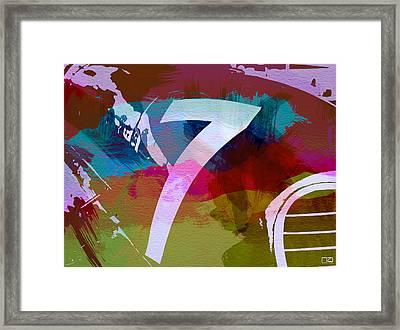 Number 7 Framed Print by Naxart Studio
