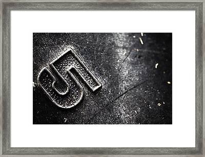 Number Five Framed Print