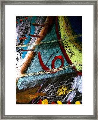 Framed Print featuring the mixed media Number Six by Clarity Artists