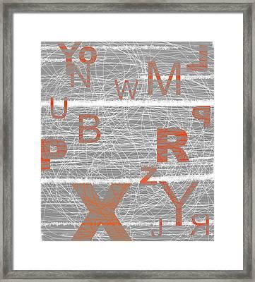 Numbers Orange Framed Print