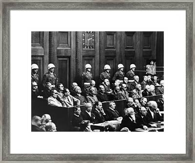 Nuremberg Trials,first Row Hermann Framed Print by Everett