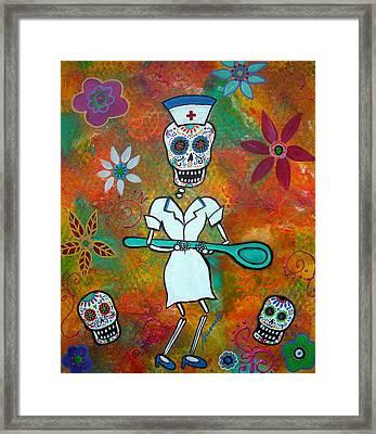 Nurse Framed Print by Pristine Cartera Turkus
