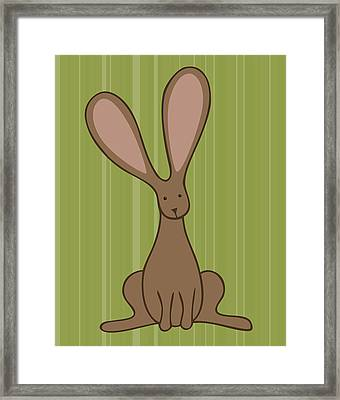 Nursery Art Bunny Framed Print by Christy Beckwith
