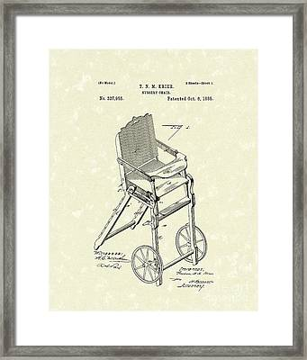 Nursery Chair 1885 Patent Art Framed Print by Prior Art Design