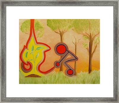 Nurture - The Act Of Bringing Up. Framed Print