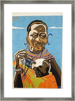 Nurturing Framed Print by Richmond Agbesi