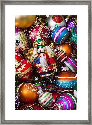 Nutcraker Ornament Framed Print by Garry Gay