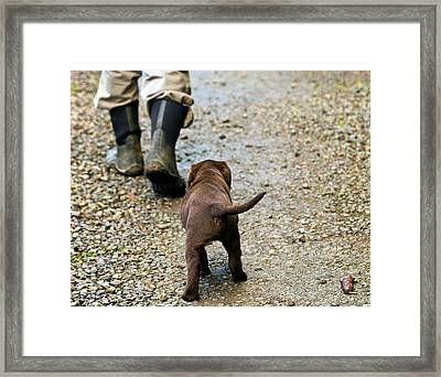 Nute Tags Along Framed Print