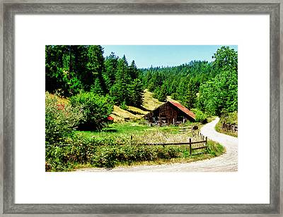 Nw California Country Road Framed Print by Frank Feliciano
