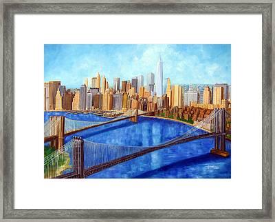 Ny City Resurrection Framed Print by Leonardo Ruggieri