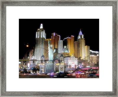 Ny In Vegas Framed Print