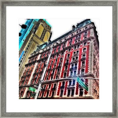 #ny #newyorker #architecture #broadway Framed Print