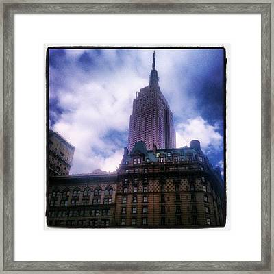 #nyc #architecture #buildings #icon Framed Print