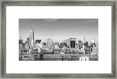 Nyc Bw Framed Print by Chuck Kuhn