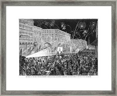 Nyc: Democrat Parade, 1876 Framed Print by Granger