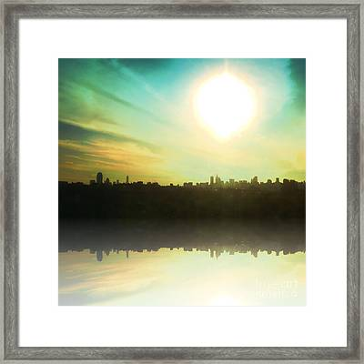 Nyc Light Of Lights Framed Print by Christine Segalas