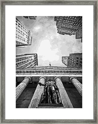 Nyc Looking Up Bw16 Framed Print