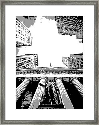 Nyc Looking Up Bw3 Framed Print
