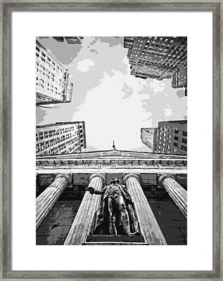Nyc Looking Up Bw6 Framed Print