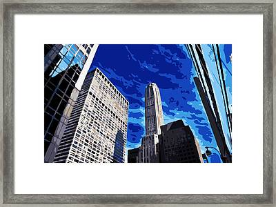 Nyc Looking Up Color 16 Framed Print