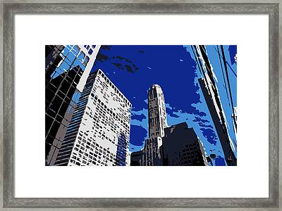Nyc Looking Up Color 6 Framed Print