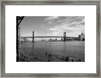 Nyc Manhattan Bridge Framed Print by Mike McGlothlen