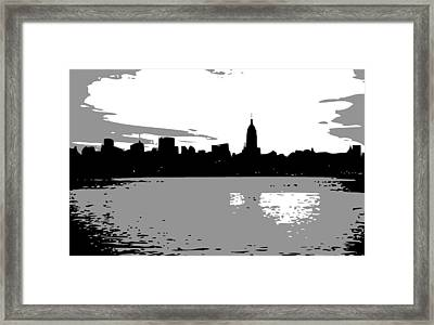 Nyc Morning Bw3 Framed Print by Scott Kelley