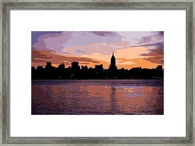 Nyc Morning Color 16 Framed Print
