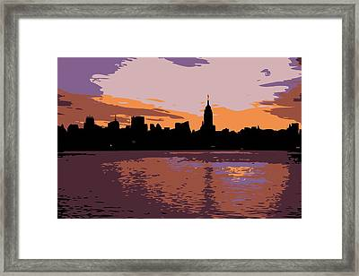 Nyc Morning Color 6 Framed Print