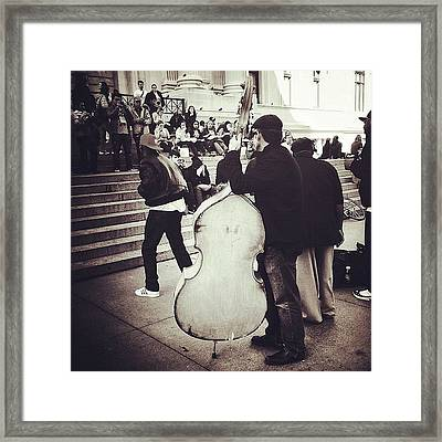 #nyc #ny #manhattan #newyork #cello Framed Print