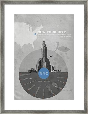 Nyc Poster Framed Print by Naxart Studio