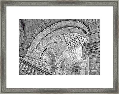 Nyc Public Library Framed Print by Susan Candelario