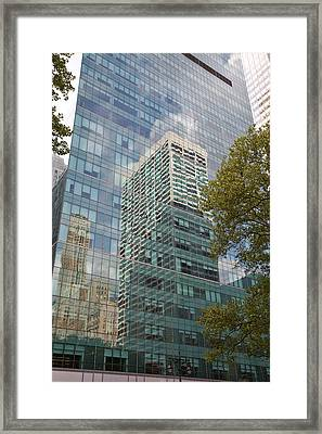 Nyc Reflection 2 Framed Print by Art Ferrier