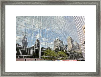 Nyc Reflection 3 Framed Print by Art Ferrier