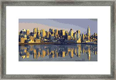 Nyc Reflection Color 16 Framed Print by Scott Kelley