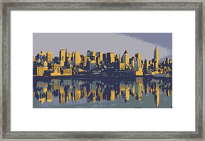 Nyc Reflection Color 6 Framed Print