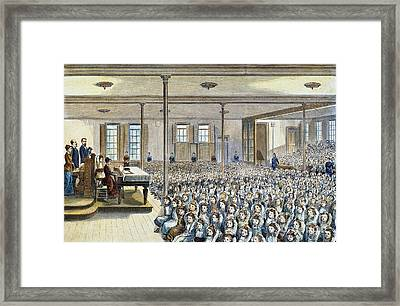 Nyc School Room, 1881 Framed Print by Granger