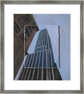 Nyc Severe Empire Layered Framed Print by Anita Burgermeister