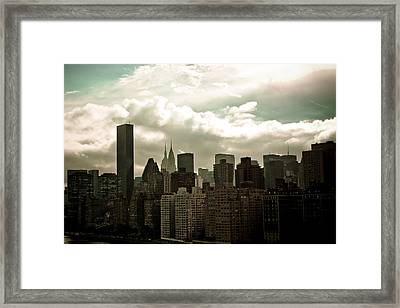 Nyc Skyline Framed Print by Anthony Doudt