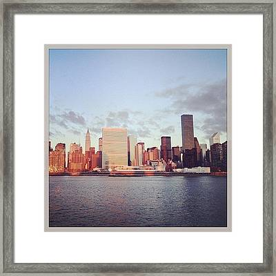 Nyc Sunrise Framed Print