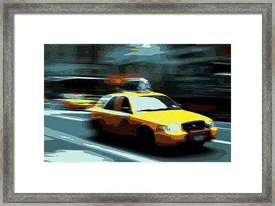Nyc Taxi Color 16 Framed Print by Scott Kelley