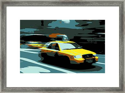Nyc Taxi Color 6 Framed Print