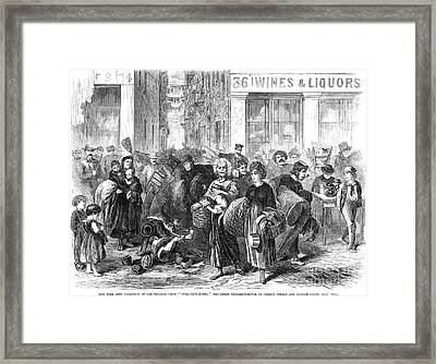 Nyc: Tenement Life, 1871 Framed Print by Granger
