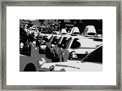 Nyc Traffic Bw3 Framed Print