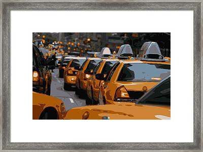 Nyc Traffic Color 16 Framed Print