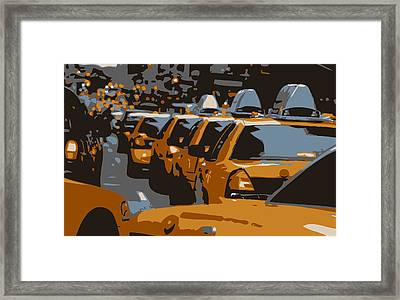 Nyc Traffic Color 6 Framed Print