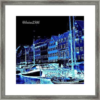 #nyhavn #copenhagen #denmark #landscape Framed Print