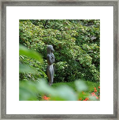 Nymph Statue In Butchart Gardens Vancouver Island Canada