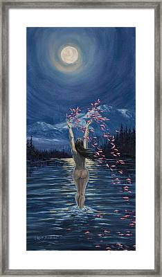 Nymphs Prayer Framed Print by Kurt Jacobson